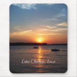Sunset on Lake Okoboji, Iowa Mouse Pad