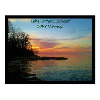 Sunset on Lake Ontario Postcard