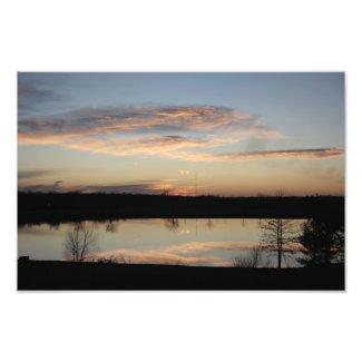 Sunset on Lake Photo Art