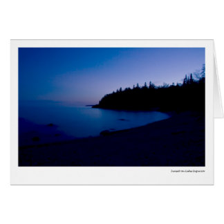 Sunset on Lake Superior Card
