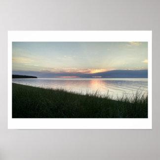 Sunset on Lake Superior Photo Poster