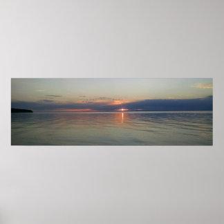 Sunset on Lake Superior poster
