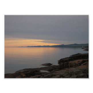 Sunset on Lake Superior Posters