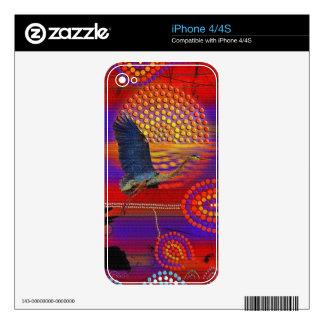 Sunset on Lake Wendouree Australian Aboriginal Art Skins For The iPhone 4S