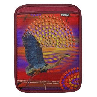 Sunset on Lake Wendouree Australian Aboriginal Art Sleeves For iPads