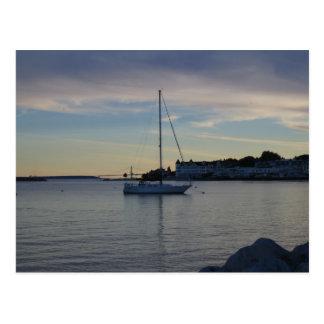 Sunset on Mackinaw Island Postcard