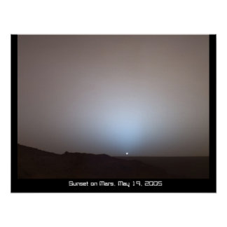 Sunset on Mars Poster