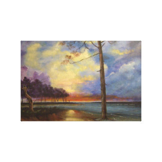 Sunset on Millwood Lake Stretched Canvas Prints