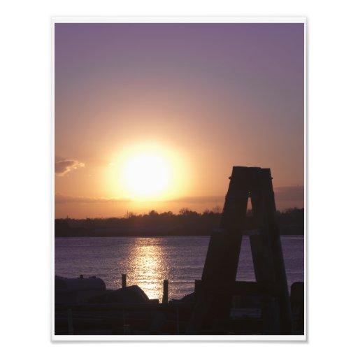 Sunset on Mississippi River Art Photo