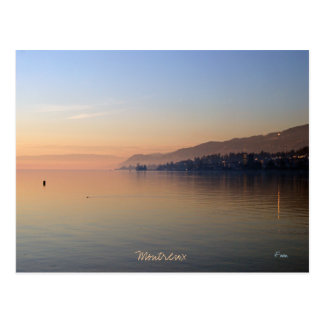sunset on Montreux Postcard
