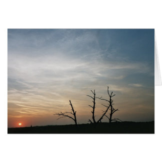 Sunset on mount St. Pieter Greeting Card