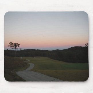 Sunset on Mountains, Lake Arrowhead Golf Course Mouse Pads