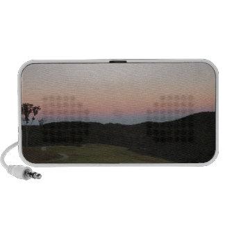 Sunset on Mountains, Lake Arrowhead Golf Course Portable Speaker