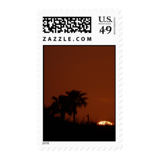 Sunset on Mustang Island Stamps