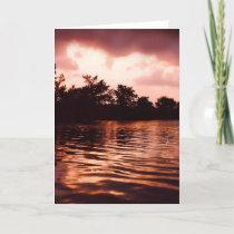 Sunset on Nippersink Lake Card
