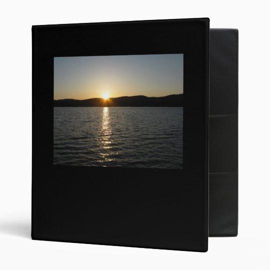 Sunset on Onota Lake: Horizontal Binder