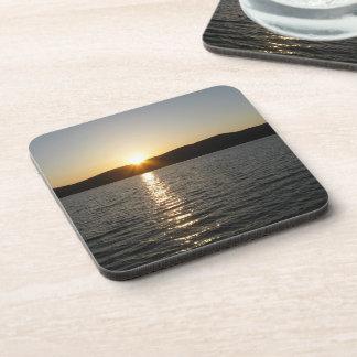 Sunset on Onota Lake: Horizontal Drink Coasters