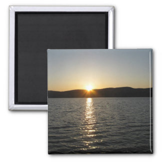 Sunset on Onota Lake: Horizontal Fridge Magnet