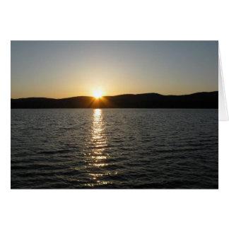 Sunset on Onota Lake: Horizontal Greeting Card
