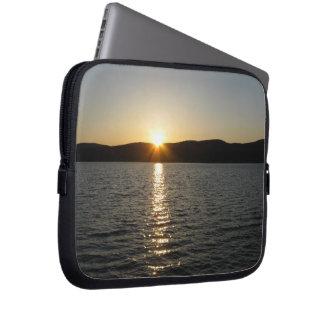 Sunset on Onota Lake: Horizontal Laptop Sleeve Case
