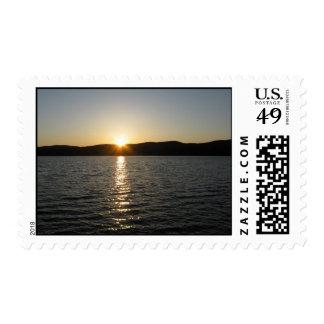 Sunset on Onota Lake: Horizontal – Medium stamp