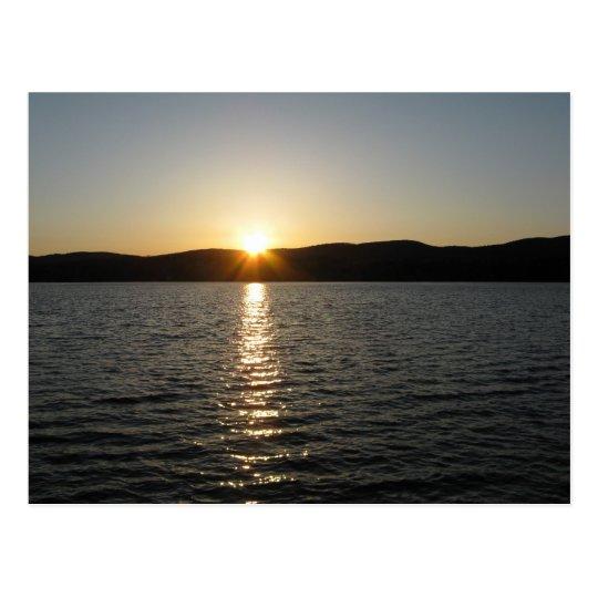Sunset on Onota Lake: Horizontal Postcard