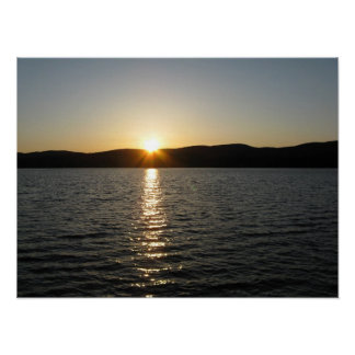 Sunset on Onota Lake: Horizontal Print