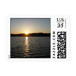 Sunset on Onota Lake: Horizontal – Small stamp