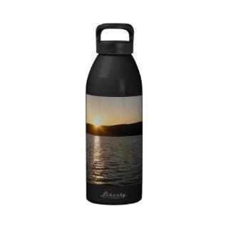 Sunset on Onota Lake: Horizontal Water Bottle