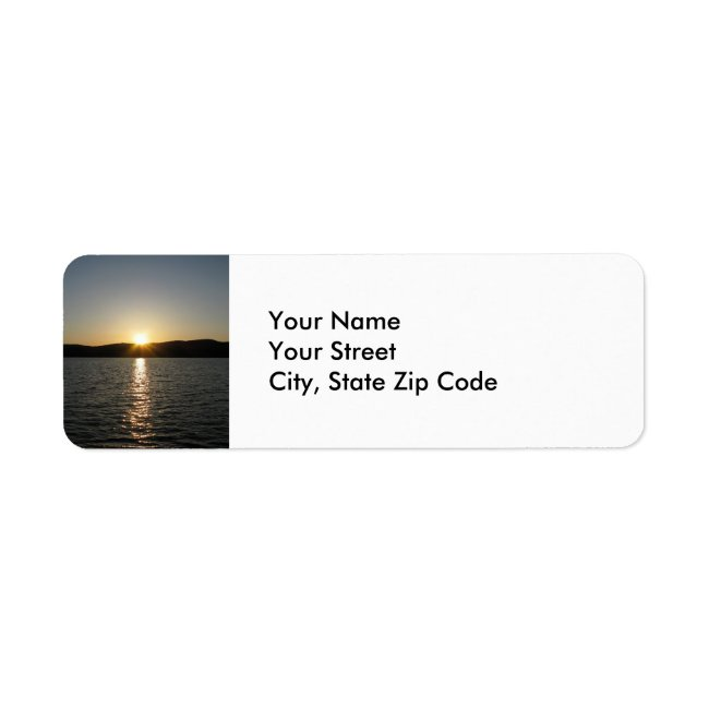 Sunset on Onota Lake return address label