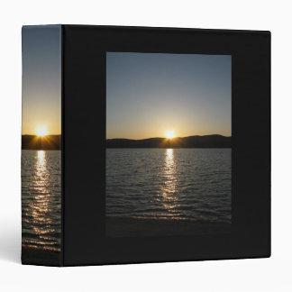 Sunset on Onota Lake: Vertical 3 Ring Binder