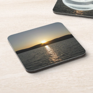 Sunset on Onota Lake: Vertical Beverage Coasters