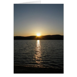 Sunset on Onota Lake: Vertical Greeting Card