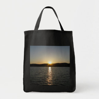 Sunset on Onota Lake: Vertical Grocery Tote Bag