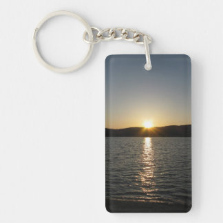 Sunset on Onota Lake: Vertical Keychain