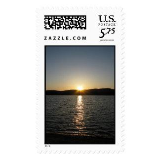 Sunset on Onota Lake: Vertical – Large stamp