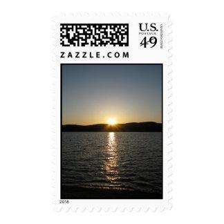 Sunset on Onota Lake: Vertical – Medium stamp