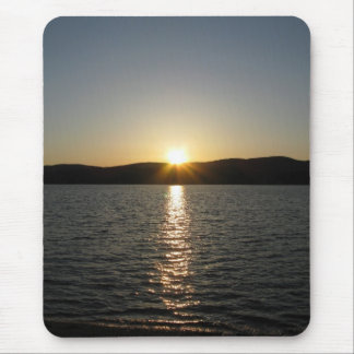 Sunset on Onota Lake: Vertical Mouse Pad