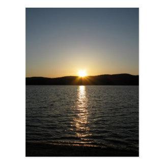 Sunset on Onota Lake: Vertical Postcard