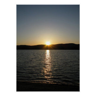 Sunset on Onota Lake: Vertical Poster