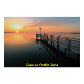 Sunset on Pamilco Sound Poster