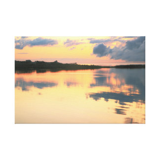 Sunset on Pamlico Sound Cape Hatteras NC Canvas Print