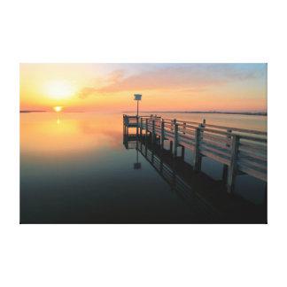 Sunset on Pamlico Sound, Nags Head NC Canvas Print