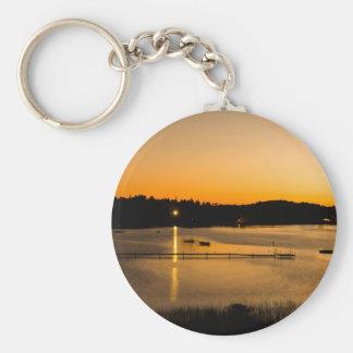 Sunset on Pickerel Lake Keychain