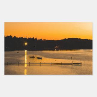 Sunset on Pickerel Lake Rectangular Sticker