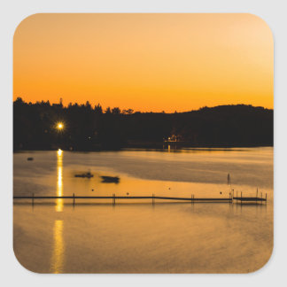 Sunset on Pickerel Lake Square Sticker