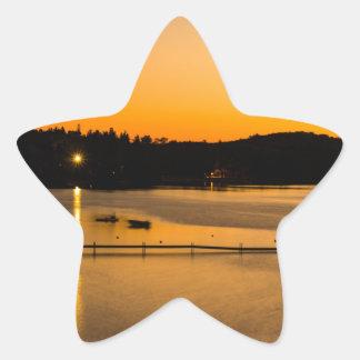 Sunset on Pickerel Lake Star Sticker