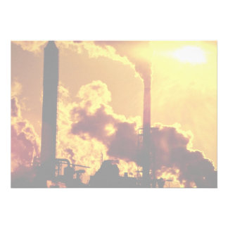 Sunset on pulp mill accentuates the air pollution announcements