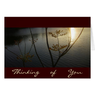Sunset on Ripples/Thinking-of-You Greeting Cards