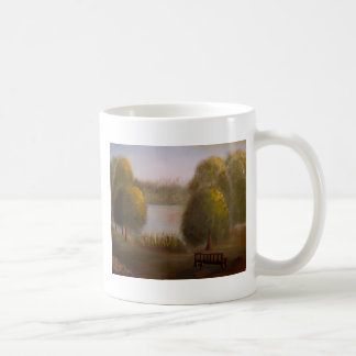 Sunset on River Classic White Coffee Mug
